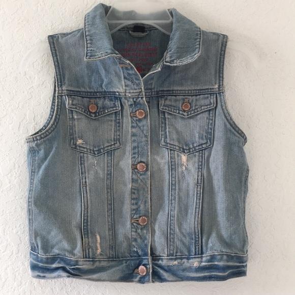 GAP Other - Girls Gap Vest Jeans Jacket size XXL 14-16